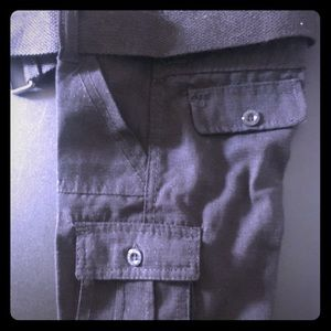 Size 2T black cargo shorts for boys